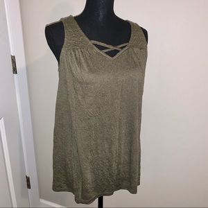 Tank top in olive green by Sonoma size Small